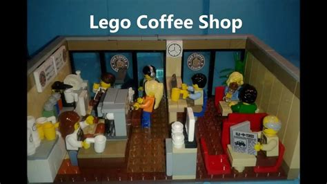 how to build a shop custom build lego coffee shop moc youtube