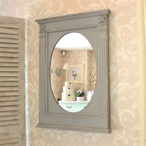 distressed grey wooden mirror melody maison 174