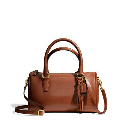 Coach Leather Satchel by Lyst Coach Legacy Mini Satchel In Leather In Brown