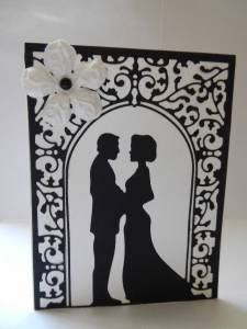 Black And White Handmade Cards - handmade wedding card made with cheery wedding vows