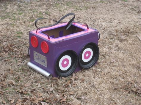 box car girls cardboard box car race car birthday ideas