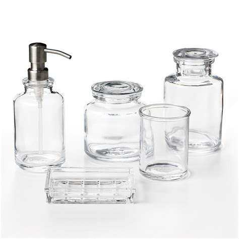 clear bathroom accessories waterworks studio quot apothecary quot bath accessories clear