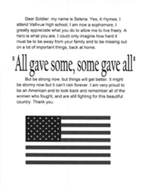 thank you letter to a soldier sle be a to a support our troops wrightslaw
