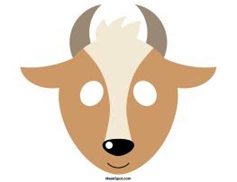 printable antelope mask goat mask template christmas pinterest coloring the