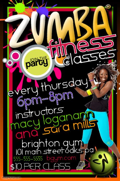 design zumba poster zumba template postermywall
