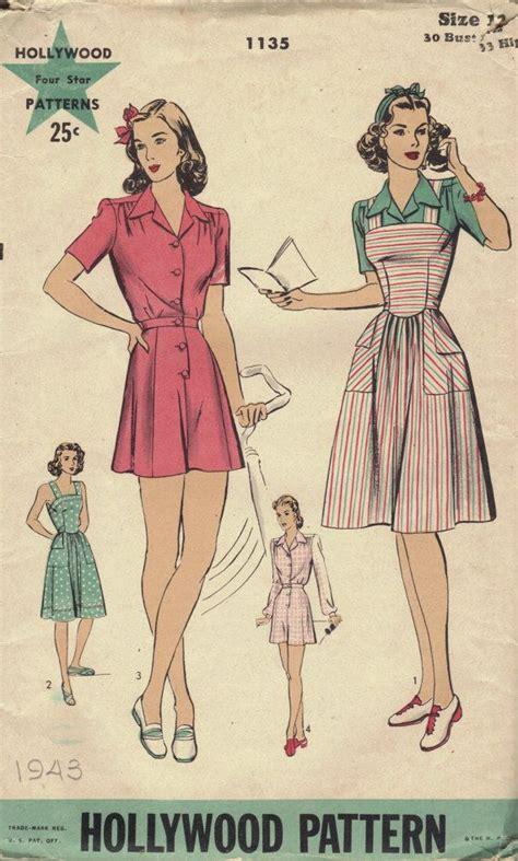 pattern for jumper shorts 1940s sewing pattern hollywood patterns vintage jumper