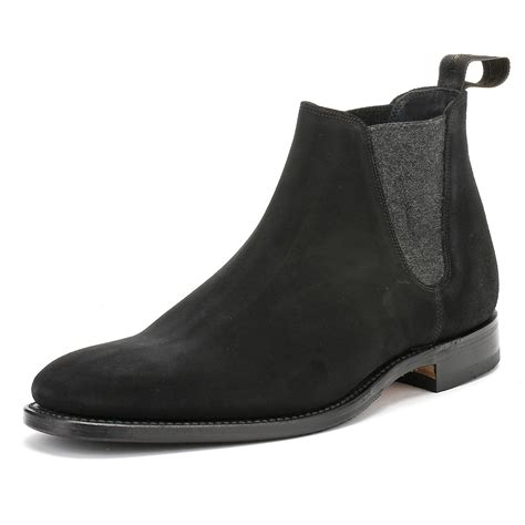 Sepatu Casual Lacoste Freed Suede Leather 100 Import 1 Loake Mens Ankle Boots Chelsea Caine Black Suede