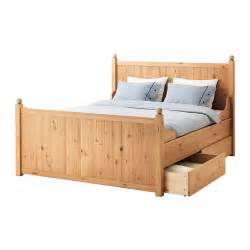 King Bed Frame With Storage Ikea Hurdal Bed Frame With 4 Storage Boxes King Ikea