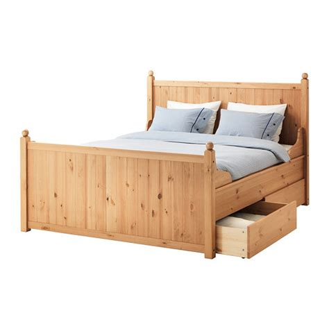 King Bed Frames With Storage Hurdal Bed Frame With 4 Storage Boxes King Ikea