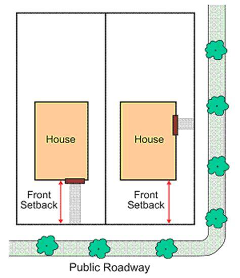 front yard setback 6 1 38 front setback