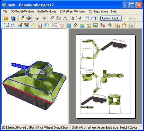 Sketchup Papercraft - pepakura designer