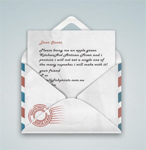 Late Gift Letter From Santa last minute letter to santa jellyfish prints