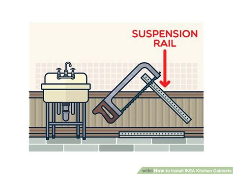 how to install ikea cabinets how to install ikea kitchen cabinets with pictures wikihow