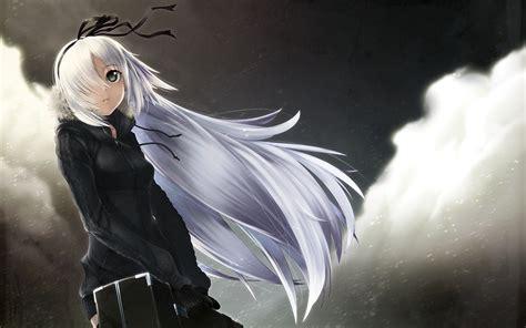 anime girl white hair wallpaper anime with long white hair wallpapers 1680x1050 882557