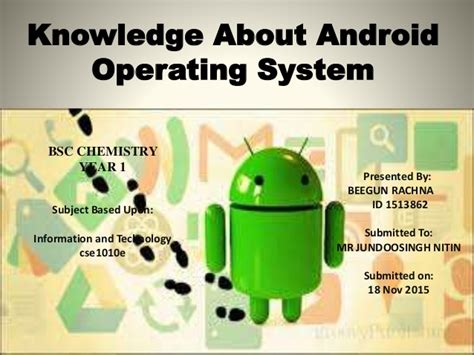 operating system for android knowledge about android operating system