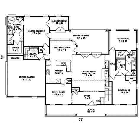 Cape Cod Floor Plan Greenshire Cape Cod Home Plan 087d 1652 House Plans And More