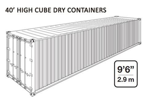 container 20 piedi misure interne container