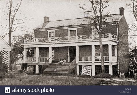 appomattox court house the mclean house in the village of appomattox court house virginia stock photo