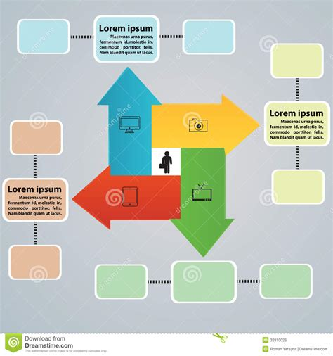 Arrow Tabs For Business Ideas Stock Vector Illustration Business Ideas Ppt Presentation