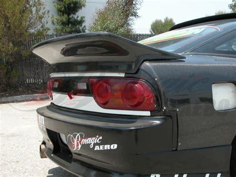 nissan 240sx spoiler wangan style rear trunk lid spoiler for nissan 240sx 1989