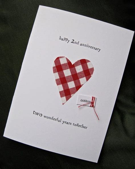 Cotton Anniversary Cards For Husband