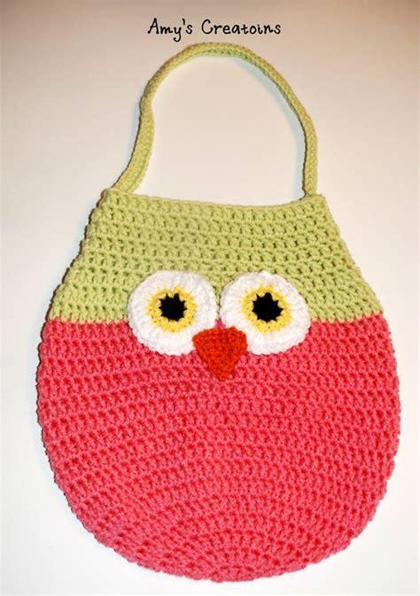 owl tote bag pattern free adorable crochet owl bag allfreecrochet com