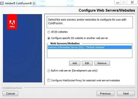 configure xp web server coldfusion 11 iis connector tuning adobe coldfusion blog
