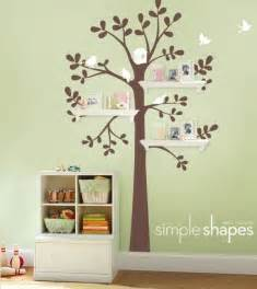 Wall Decor For Baby Room Wall Decor And Shelving Tree Baby Nursery Home Lilys Design Ideas