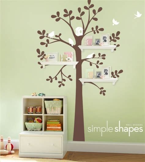 Nursery Wall Decoration Wall Decor And Shelving Tree Baby Nursery Home Lilys Design Ideas