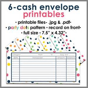 budget envelope template printable blank envelope budgeting system dots