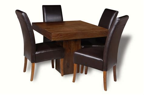 Mango 90cm Cube Dining Table 4 Madrid Chairs Trade Next Mango Dining Table