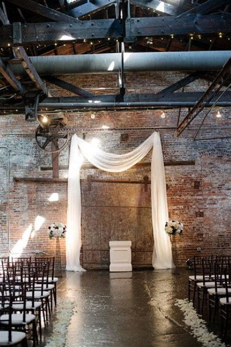 Industrial Wedding Decor by 17 Best Ideas About Wedding Ceremony Backdrop On
