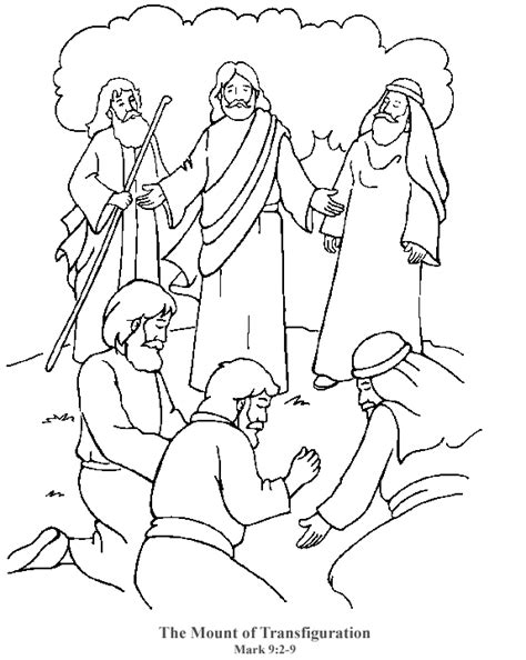coloring pages jesus transfiguration jesus transfiguration coloring page coloring home