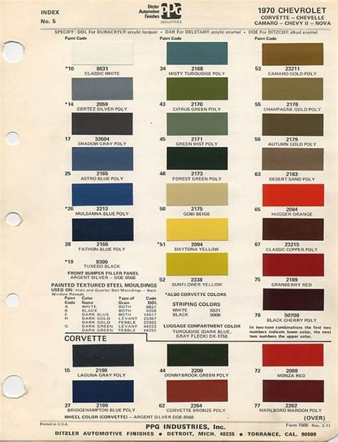 gm color chips color chips paint codes gm nymcc