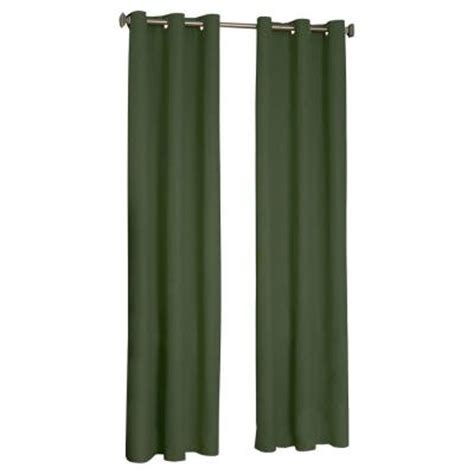 blackout curtains 63 length eclipse microfiber blackout moss grommet curtain panel 63