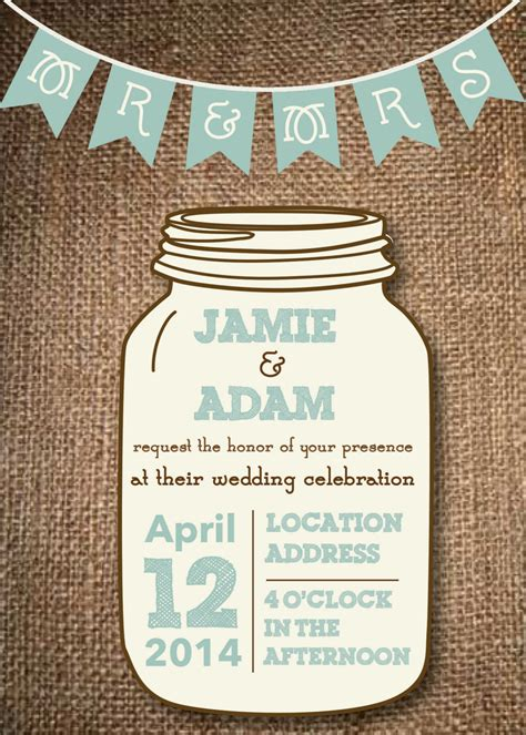 mason jar templates for invitations kitchen dining