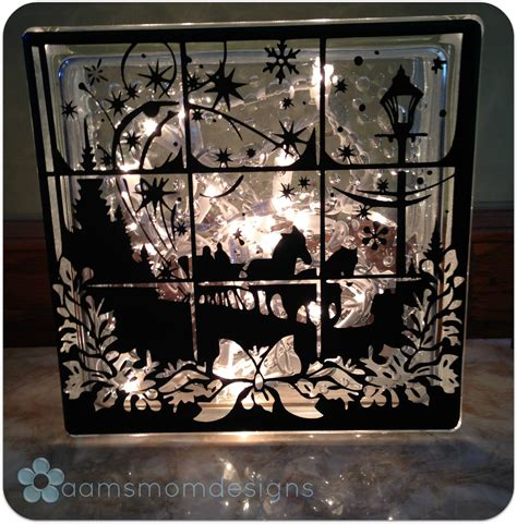 Lighted Glass Block by Winter Window Lighted Glass Block