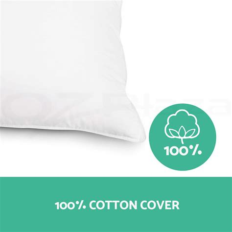Hotel Pillow Brands by Family 4 Pack Bed Pillows Soft Medium Firm Cotton Cover 48x73cm Hotel Pillow Ebay