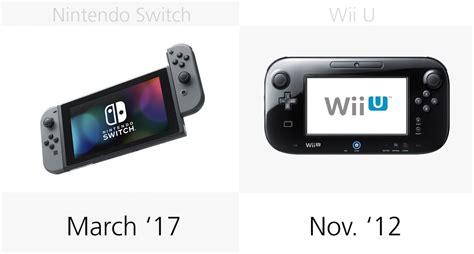 nintendo wii u vs new nintendo switch vs wii u