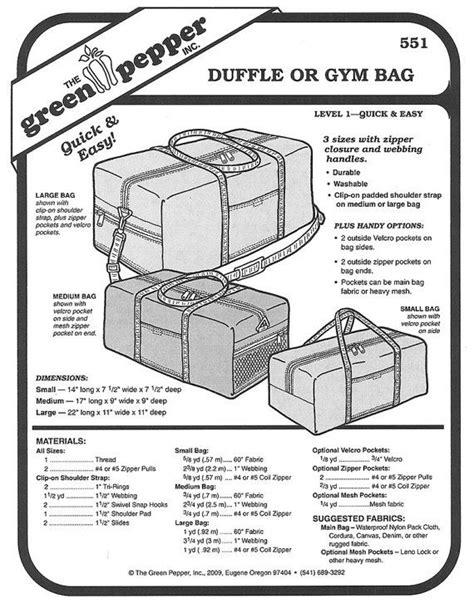 Green Pepper Sewing Pattern Cheerleader Duffle Bag Pattern