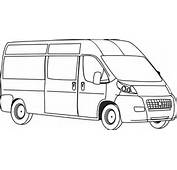Van Outline Clip Art At Clkercom  Vector Online Royalty