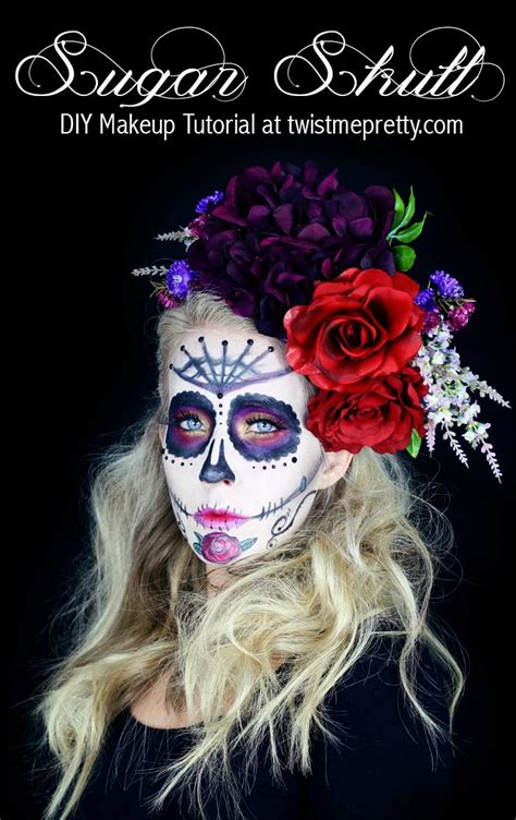 sugar skull makeup tutorial  beginners twist  pretty