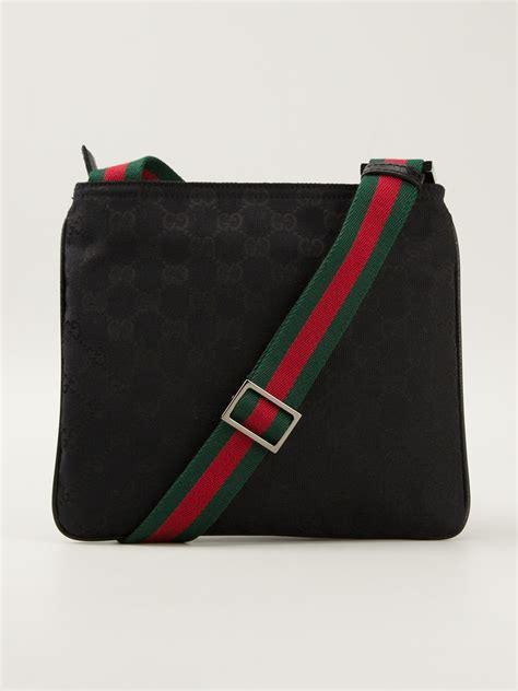 gucci monogram crossbody bag  black  men lyst