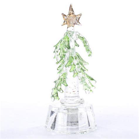 miniature glass christmas tree table decor christmas