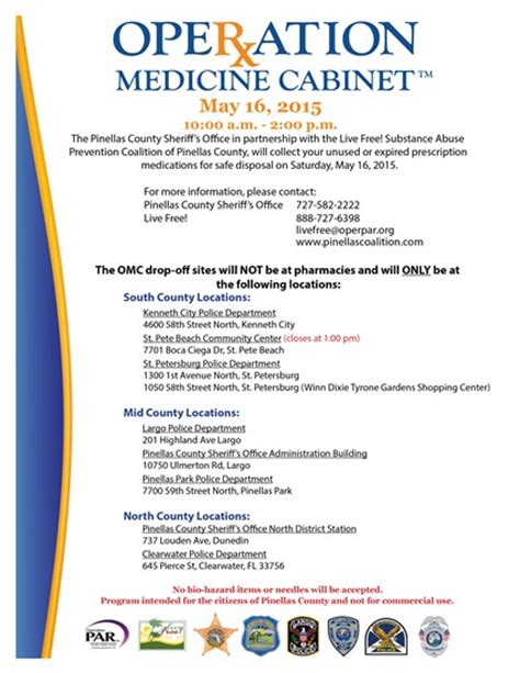 Operation Medicine Cabinet by 15 111 Operation Medicine Cabinet Event Scheduled For