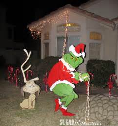 Grinch stealing christmas lights off house pattern share the