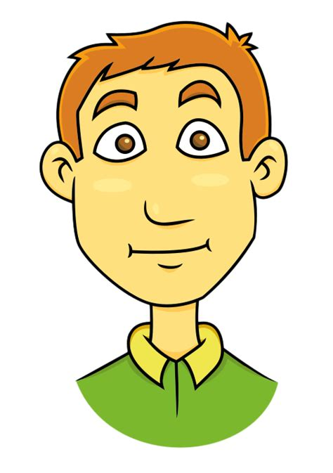 young man head clip art free well groomed young man clip art