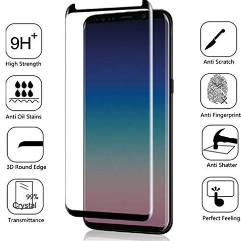 Samsung Galaxy S10 Glass Replacement by Bisen Samsung Galaxy S9 Plus Screen Protector Tempered Glass 3d Curved Coverage Edge