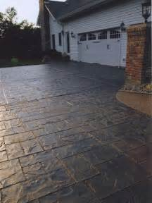 How To Install Patio Stones Stamped Concrete Driveway Houzz