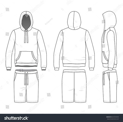 blank clothing templates vector illustration sweatshirt